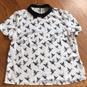 Reserved women's short sleeve blouse